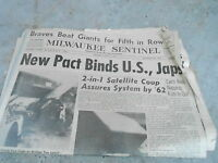 JUNE 23 1960 MILWAUKEE SENTINEL newspaper section 2-in-1 SATTELLITE COUP