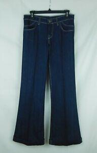 NWOT David Kahn Womens Jeans Size 27 Dark Wash Wide Leg Trouser