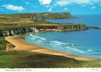 Rare Scenic Postcard - White Park Bay, Co. Antrim, Northern Ireland (July 1972).