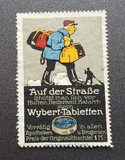 Cinderella Poster Stamp Germany Auf der Straße Wybert-Tabletten (7603)