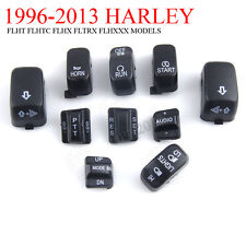 10pcs Hand Control Switch Button Caps Set For Harley Davidson Electra Glide FLHX
