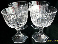 Sundae Dishes.with Stands  FOUR in Set. Lead Crystal. Large Capacity.
