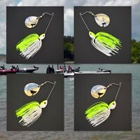 Bassdozer spinnerbaits SHORT ARM THUMPER 50/50 CHART WHITE spinner bait baits