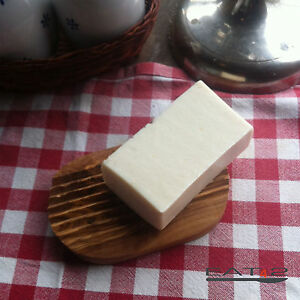 Soap Dish Olive Wood Soap Tray Wood Tray Bowl + Natural Detergent