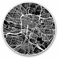 2 x Vinyl Stickers 7.5cm - Glasgow Scotland Urban Street Map Cool Gift #13261