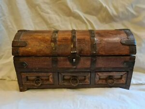 Handmade Wooden Indian Jewellery chest  Box