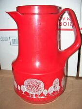 Vintage Red Bettina Thermos 540 Pitcher Carafe Glass Insert Made West Germany Ex