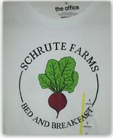 The Office Schrute Farms Bed and Breakfast womens white T-shirts XS S M L XL XXL