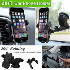 Universal Windshield + Vent Mount Car Holder Cradle For Samsung S6/S7/S8 or Edge