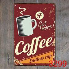 Metal Tin Sign coffee endless cup Decor Bar Pub Home Vintage Retro Poster