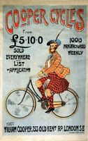 Vintage French Psycho Cycles Bicycle Cycling Advertisment Poster Art Print A4