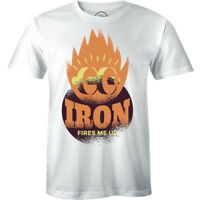 Iron fires me up - Workout Bodybuilding Graphic Men's Premium T-Shirt