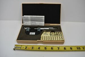 USED MITUTOYO SCREW THREAD PITCH MICROMETER WITH ANVILS