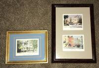 Emerson • Set Of 3 Art Prints Framed Matted • Charleston South Carolina Scenes