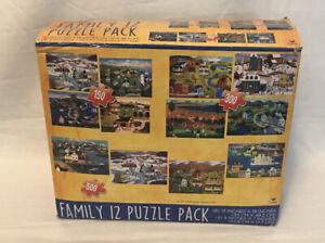 Cardinal - Multi - Family 12 Puzzle Pack Item 91999