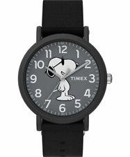Timex TW2T65700, Peanuts-Snoopy Weekender Watch, Black Nylon Strap, Joe Cool