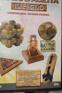 Giochi d'ingegno in legno 38 pezzi con DVD
