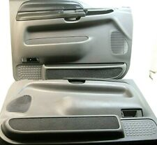 Pair 1999-2007 Ford F-250 F-350 Super duty truck door panels grey Excursion 2002