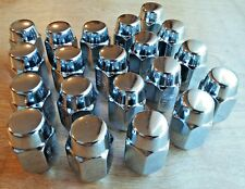 "20 Chevy Buick Olds Pont Rally Rim Chrome Mag Wheel Acorn Lug Nuts 1/2""-20 NOS"