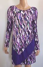 NWT Authentic JIL SANDER NAVY Multi-Colored Printed Dress 34 US-4