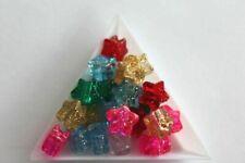 Plastic Star Glitter Pony Bead Mix. 13mm. 75 beads. #8917