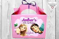 5x Tangled / Rapunzel Party boxes. Disney themed loot bags. Princess party decor