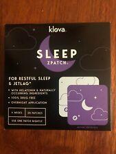 Klova Sleep ZPatch for Restful Sleep & Jetlag w/ Melatonin 28 Patches 4 Weeks