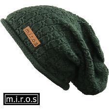 uomo lungo berretto Chris verde oliva fatto a mano invernale VON M. I. r.o.s