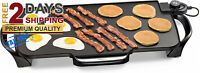 Electric Grill Griddle Removable Handles Nonstick Extra Large Griddle Indoor