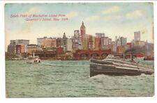 Vintage Postcard New York City South Point of Manhattan Island