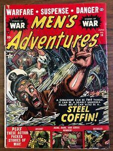Men's Adventures 14 (Solid) Everett cover/art 1952 war Atlas Comics (j#2103)