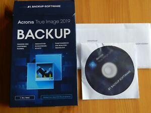 BACKUP ACRONIS True Image Software 2019 mit Extra-Handbuch und Lizenznummer