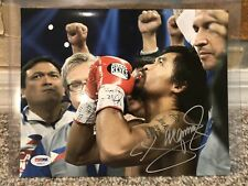 MANNY PACQUIAO SIGNED AUTO 8X10 PHOTO Ring introduction PSA Mayweather 209