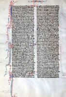 BIBEL HANDSCHRIFT BLATT PERGAMENT PARIS FRANKREICH PERLBIBEL FLEURONNÉE 1270