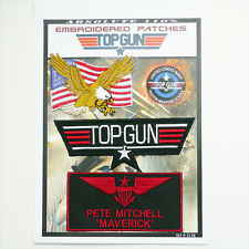 "TOP GUN ""MAVERICK"" FANCY DRESS Iron-On Patch Super Set #128 - FREE POSTAGE!"