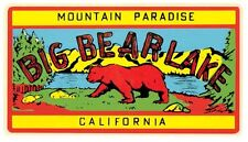 Big Bear Lake - California  CA  Vintage 1950's Style Travel Decal  Sticker