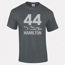 Lewis Hamilton,44 Hamilton Plata texto F1 COCHE Hombre Mujer Niños Tallas Hasta