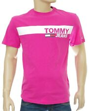 TOMMY HILFIGER JEANS tee shirt homme rose ESSENTIAL BOX LOGO Fuchsia Taille M