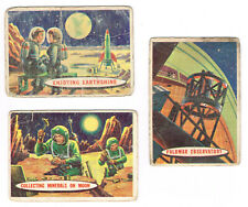 1957 Topps Space Cards lot 3 different cards #'s 46, 49 and 50 average Fair