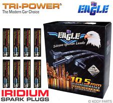 10.5mm LEADS & IRIDIUM PLUGS - for Holden 5.7L V8 LS1 Gen III VY II VZ HS TPX