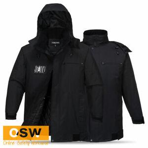 Huski Black Work BREATHETEC™ Padded Security Bar Club Winter Warm Jacket K2095