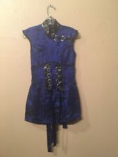 "Lip Service Hollywood Geisha ""Sunset Strip"" blue mini dress XS"