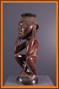 KUBA STATUE AFRICAN TRIBAL ART AFRICAIN ARTE AFRICANA AFRIKANISCHE KUNST **