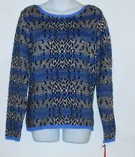 Ruby Rd Ladies Long Sleeve Geometric Pullover Sweater Multi-Color Medium (M) NWT