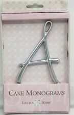 Cake Topper Wedding Lillian Rose Rhinestone Monogram Letter A Silver (NEW)
