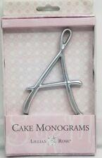 Cake Topper Wedding Lillian Rose Rhinestone Monogram Letter A Silver (NEW)