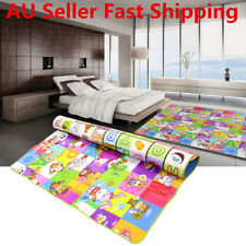 2mx1.8m Baby Kids Play Mat Foam Floor Rug Activity Crawl Alphabet Animal Blanket