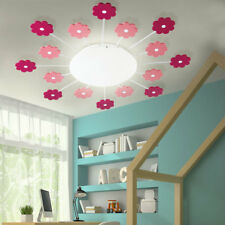 Flowers ceiling lamp pink girl playroom lighting children wall lamp glass new