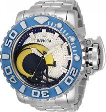Invicta 70mm NFL Sea Hunter GEN II LOS ANGELES RAMS Automatic Silver SS Watch