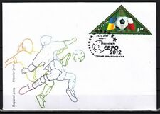 Ukraine, 2012 issue. Soccer Triangle Stamp on a First day cover.